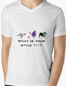 Dog style Mens V-Neck T-Shirt