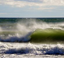Stormy Waves - Kennebunk, Maine by MaryinMaine