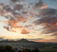 Glastonbury Dawn Panorama by Nick Pound