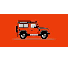 A Graphical Interpretation of the Defender 90 Station Wagon Adventure Edition Photographic Print