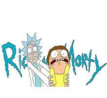Rick and Morty with logo by benzworld