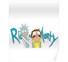 Rick and Morty with logo Poster