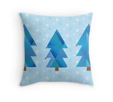Blue Winter Wonderland  Throw Pillow