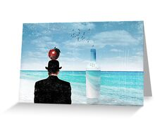 rene at the sea side Greeting Card