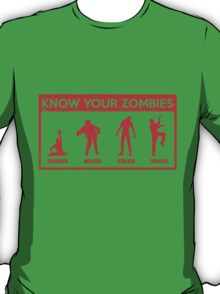Know Your Zombies T-Shirt