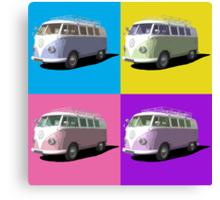 Pop Art Style Campervan Canvas Print