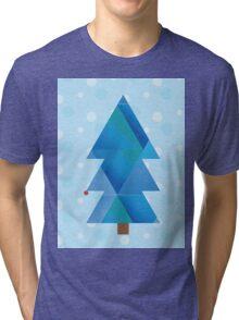 Blue Winter Wonderland  Tri-blend T-Shirt