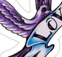 Purple Love Dove Sticker