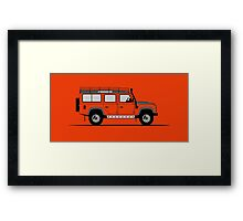 A Graphical Interpretation of the Defender 110 Station Wagon Adventure Edition Framed Print