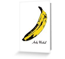 Andy Warhol Banana, RIP Lou Reed Greeting Card