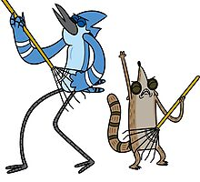 Regular Show - Mordecai and Rigby by benzworld