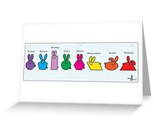 GeoBunnies Lineup Greeting Card