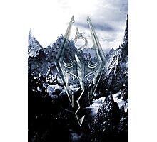 Skyrim Winter Poster Photographic Print
