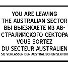 You are leaving the Australian Sector by jorges