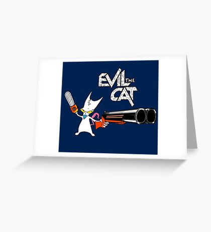 EVIL CAT Greeting Card