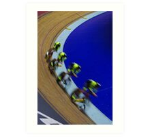 British championships track cycling  Art Print