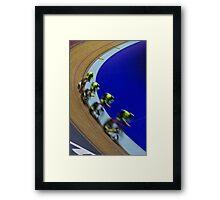 British championships track cycling  Framed Print