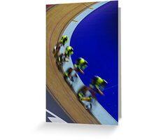 British championships track cycling  Greeting Card