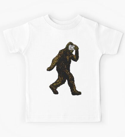 Bigfoot With Camera Kids Tee