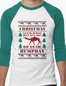Christmas Hump Day Funny Ugly Sweater Baseball Jersey T-Shirt
