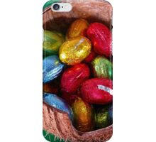 Foil Wrapped Easter Eggs - Yellow Blue Green iPhone Case/Skin