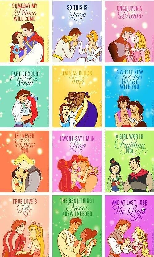Disney Princesses by dancingflute101