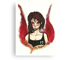 Girl on Fire Canvas Print