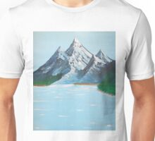 high mountain valley lake Unisex T-Shirt
