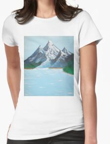 high mountain valley lake Womens Fitted T-Shirt