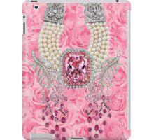 Barbie Pink Diamond Rose Pearls Print iPad Case/Skin