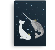 Prince and Princess of Whales Canvas Print