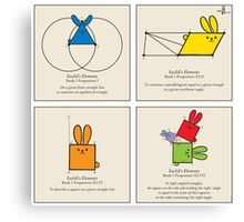 Euclid's Elements Book 1 GeoBunnies 4-Panels Canvas Print