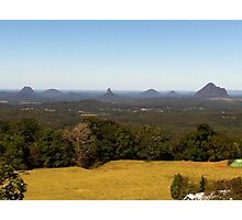 Glass House Mountains from Montville Photographic Print