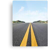 Empty Road Metal Print