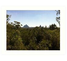 Glass House Mountains Art Print