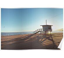 Lifeguard Cabin at Sundown Poster