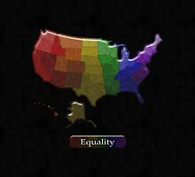 LGBT Equality United States Rainbow Map - LGBT Equality by LiveLoudGraphic