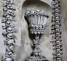 Skulls at Kutna Hora, Czech Republic by Wendy Sinclair