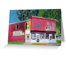 Past Time Tavern Greeting Card