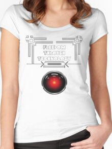 Freedom Through Technology Women's Fitted Scoop T-Shirt