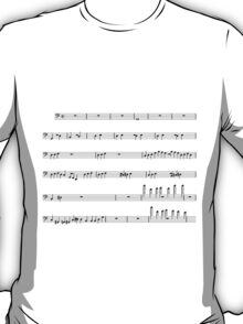 Voltron Sheet Music T-Shirt