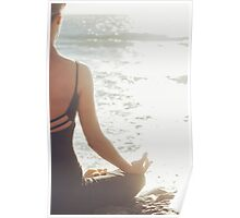 Young Beauty in Meditation Poster