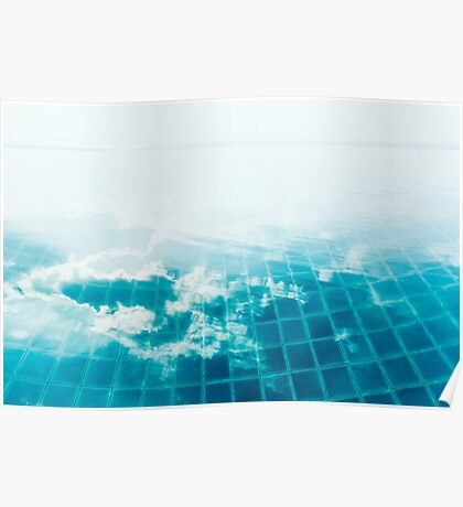 Cloud Reflection in Infinity Pool Poster