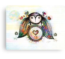 Love and Light Owl Canvas Print