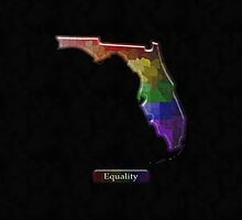 Florida Rainbow Map - LGBT Equality by LiveLoudGraphic