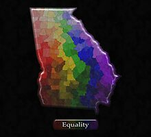 LGBT Equality Georgia Rainbow Map - LGBT Equality by LiveLoudGraphic