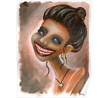 Creepy Tooth Lady Portrait Poster