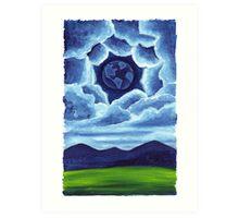 Night Earth in the Sky Art Print