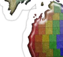 LGBT Equality Michigan Rainbow Map - LGBT Equality Sticker