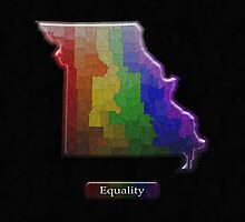 LGBT Equality Missouri Rainbow Map - LGBT Equality by LiveLoudGraphic